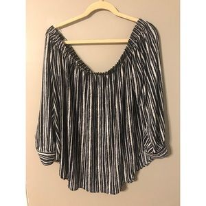 Plus size off the shoulder blouse